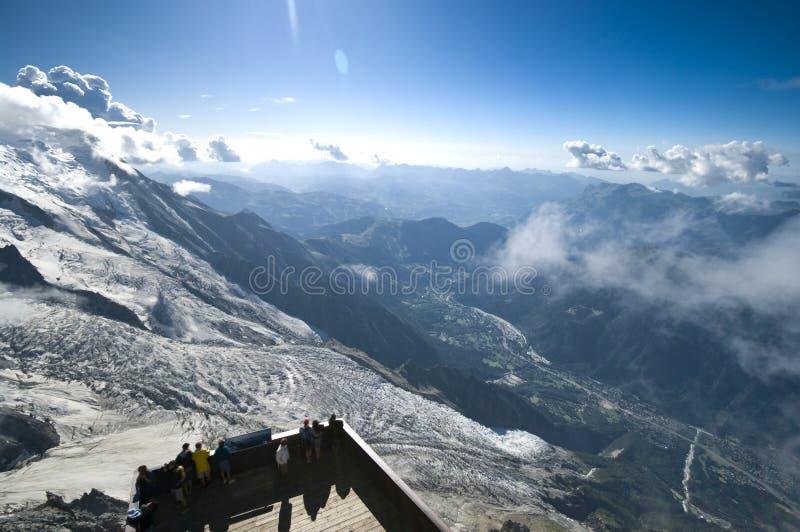 Panorama di Chamonix fotografie stock libere da diritti