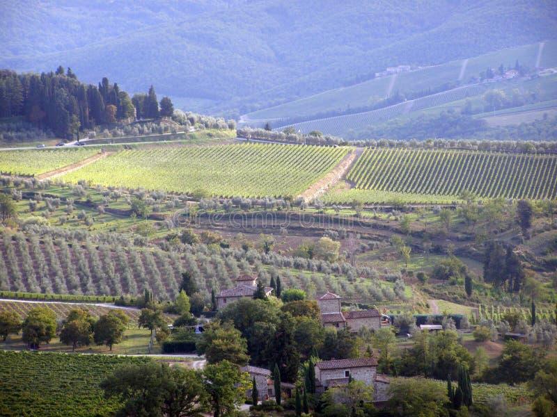 Panorama di Chianti immagini stock
