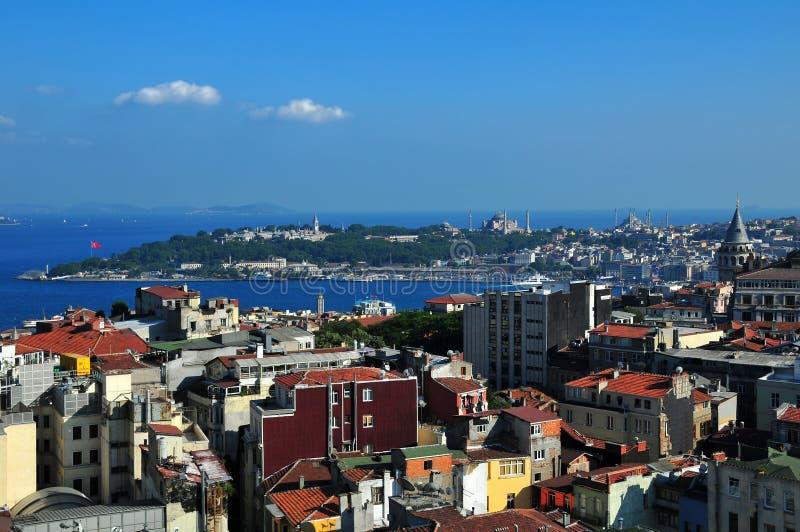Panorama di Costantinopoli immagini stock libere da diritti