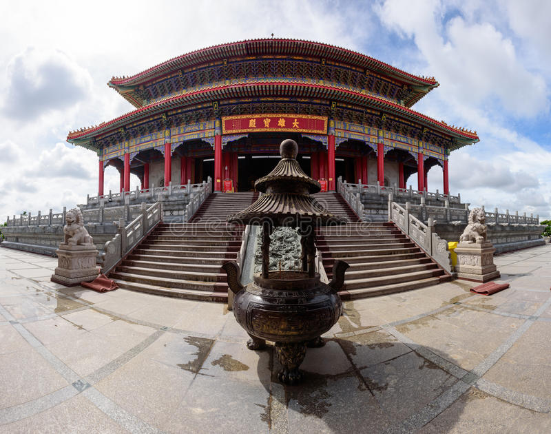 Panorama di costruzione in Dragon Temple Kammalawat Temple fotografia stock libera da diritti