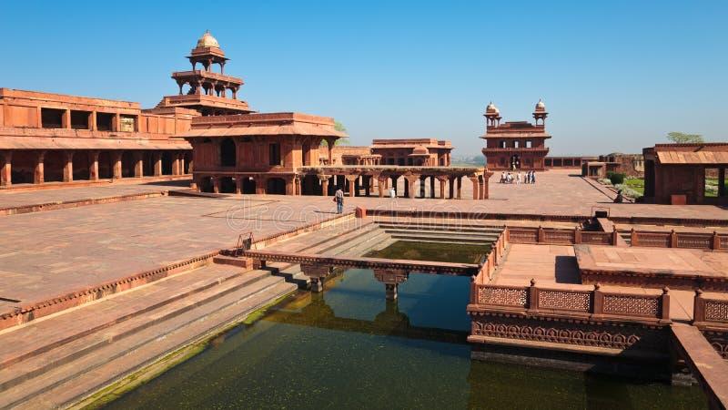 Panorama di Fatehpur Sikri immagini stock libere da diritti