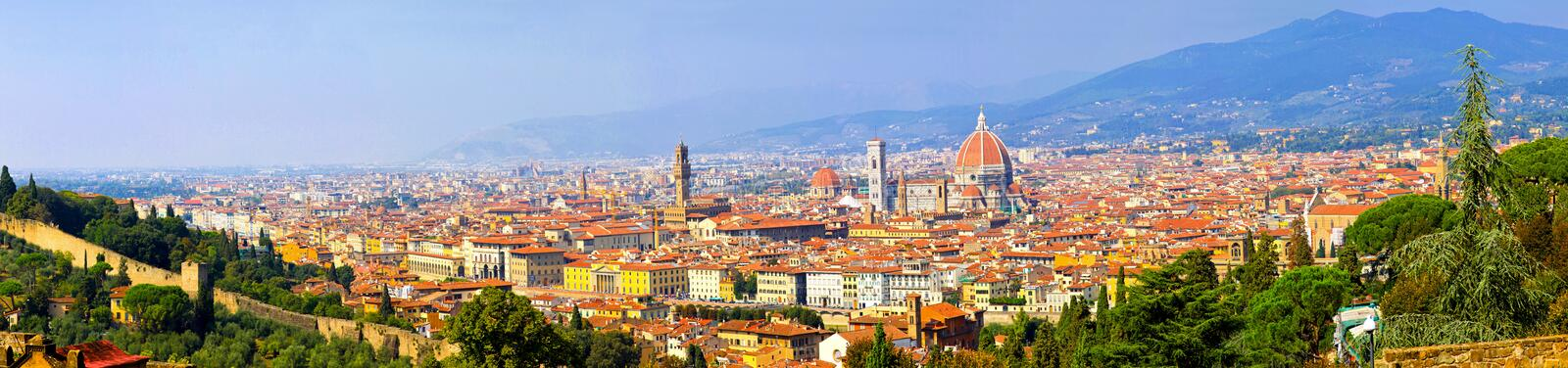 Panorama di Firenze immagine stock