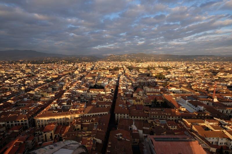 Panorama di Firenze dalla cima della cattedrale di Santa Maria Del Fiore immagine stock