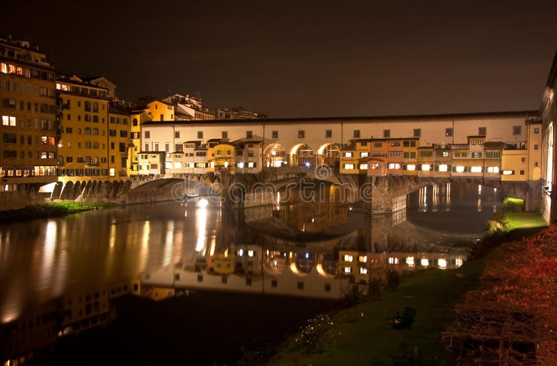 Panorama di Firenze Ponte Vecchio fotografia stock libera da diritti