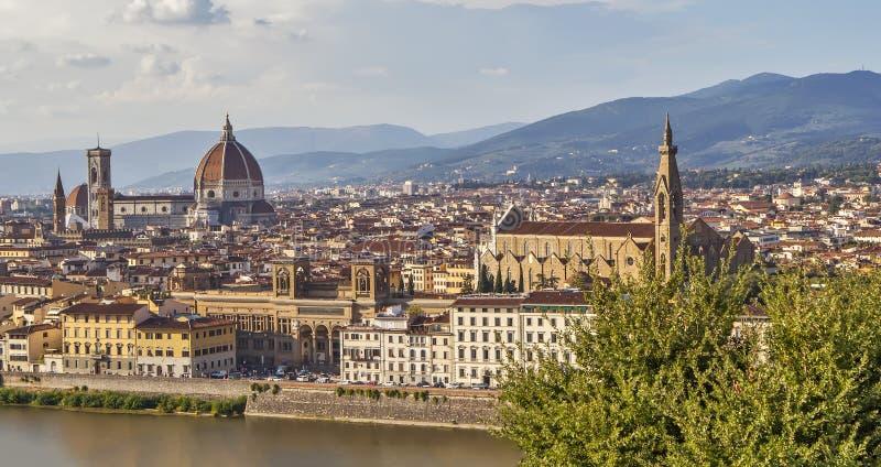 Panorama di Firenze Vista da sopra L'Italia fotografie stock libere da diritti