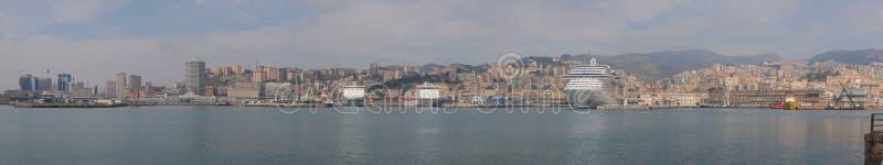 Panorama di Genova fotografia stock libera da diritti