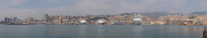 Panorama di Genova fotografie stock libere da diritti