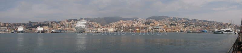 Panorama di Genova fotografie stock