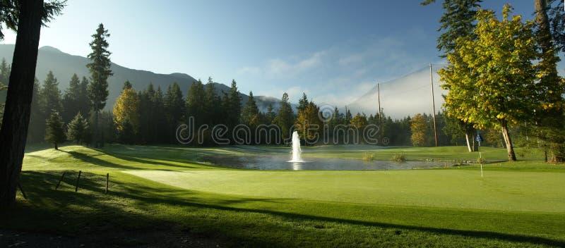 Panorama di golf fotografia stock