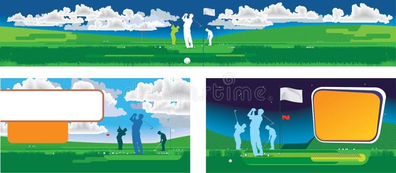 panorama di golf illustrazione di stock