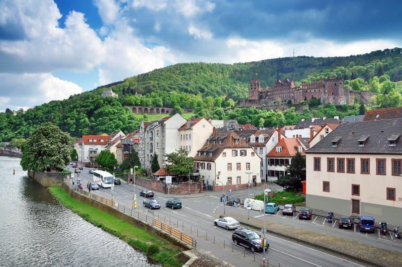 Panorama di Heidelberg fotografia stock