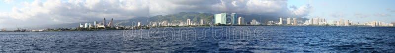 Panorama di Honolulu/Waikiki fotografia stock libera da diritti
