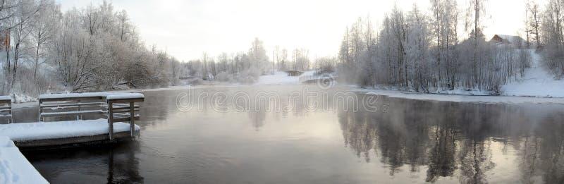 Panorama di inverno immagine stock