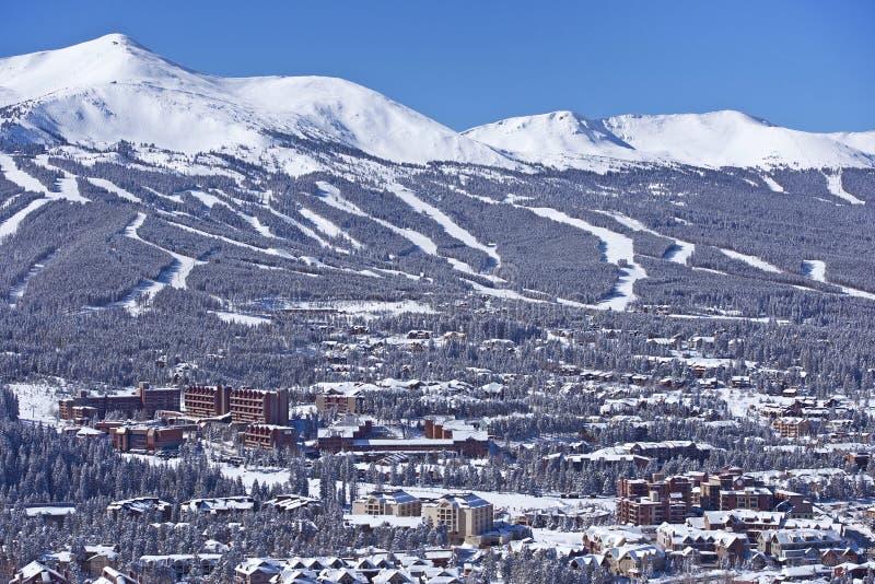 Panorama di inverno di Breckenridge fotografia stock
