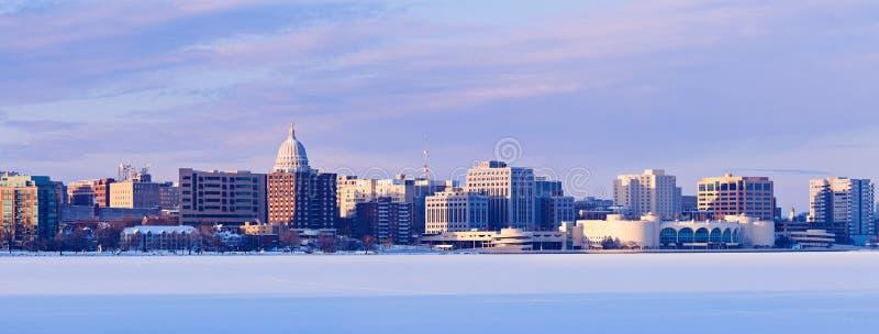 Panorama di inverno di Madison fotografie stock libere da diritti