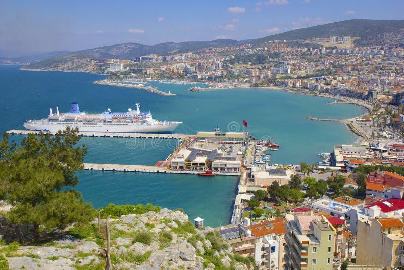 Panorama di Kusadasi in Turchia fotografia stock libera da diritti