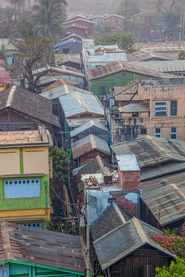 Panorama di Mandalay fotografia stock libera da diritti