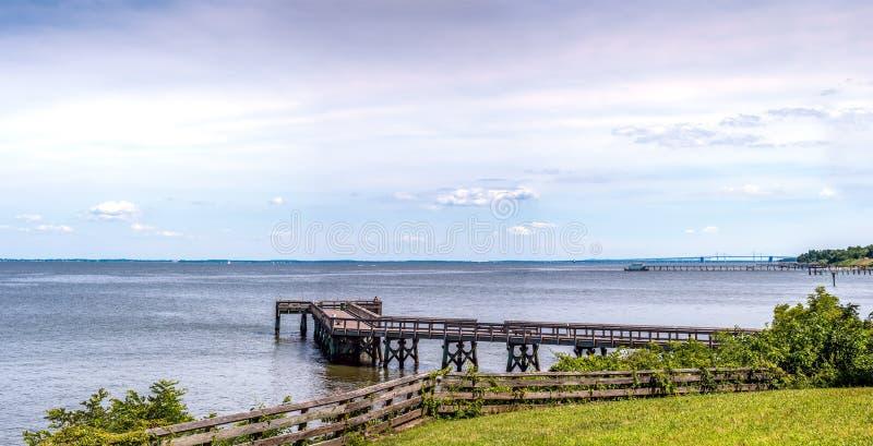 Panorama di Maryland della baia di Chesapeake fotografia stock libera da diritti