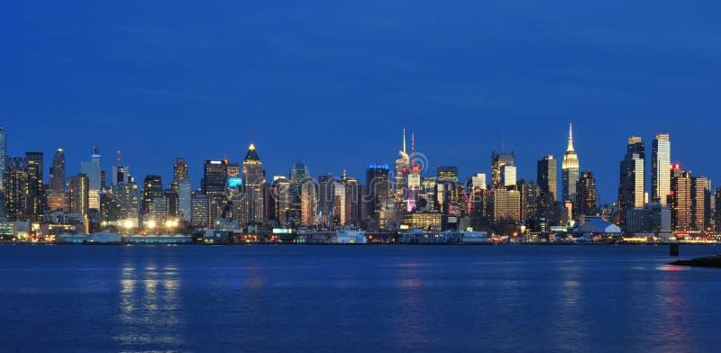 Panorama di Midtown di New York immagini stock