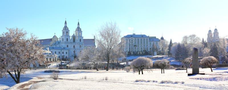 Panorama di Minsk, Bielorussia fotografie stock libere da diritti