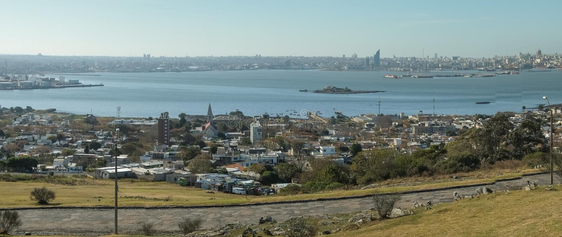 Panorama di Montevideo immagine stock libera da diritti
