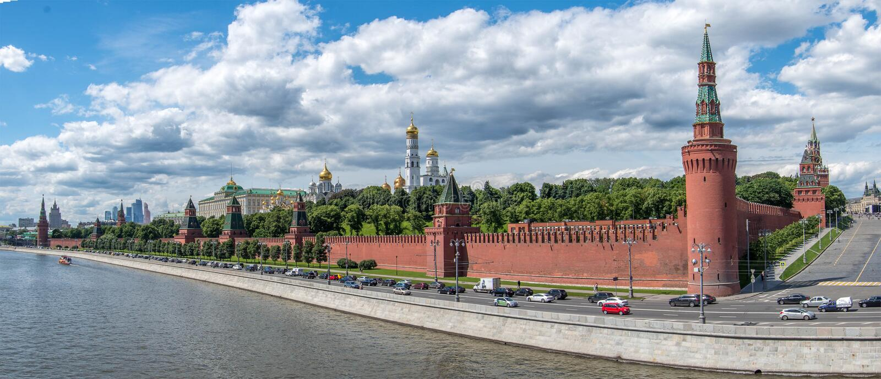 Panorama di Mosca Kremlin fotografia stock
