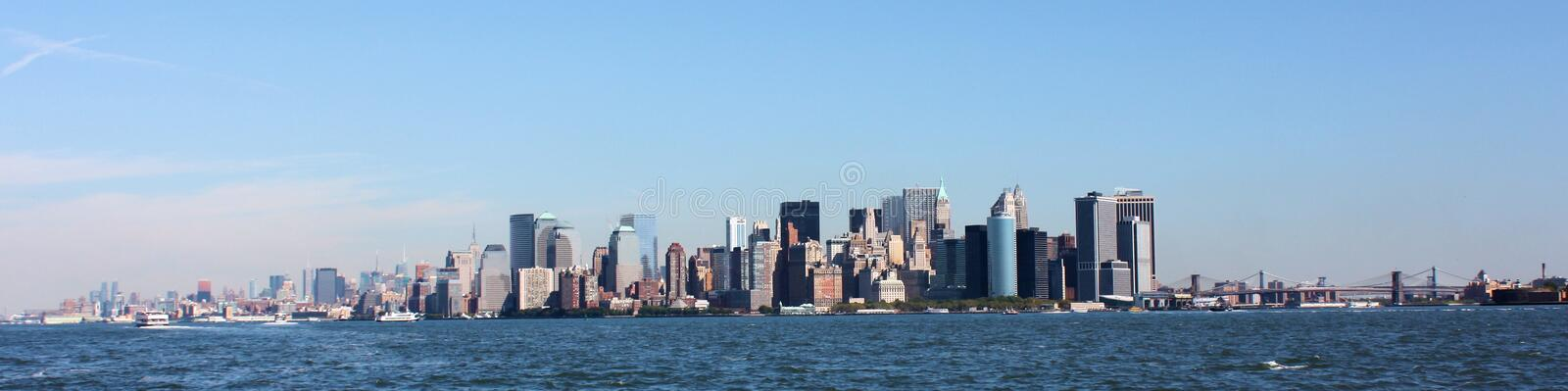 Panorama di New York City fotografia stock
