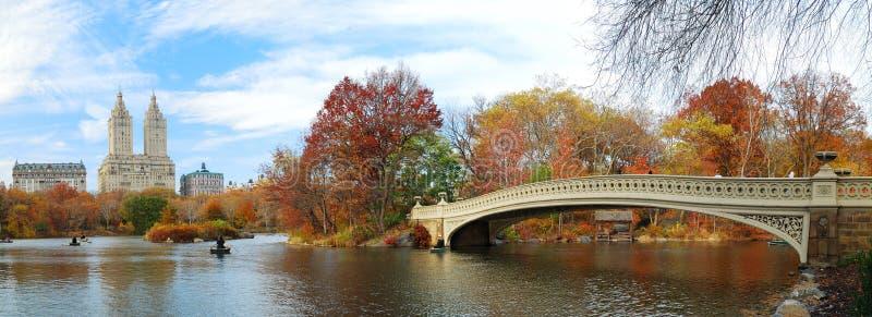 Panorama di New York City Manhattan Central Park fotografia stock libera da diritti