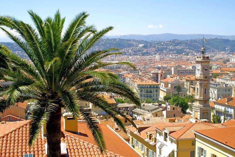 Panorama di Nizza, Francia fotografia stock libera da diritti