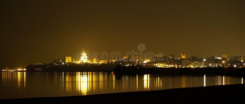 Panorama di notte fotografia stock