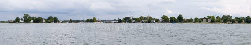 Panorama di Oxford Maryland dal Chesapeake fotografia stock libera da diritti