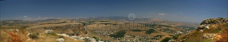 Panorama di paesaggio del Galilee fotografie stock libere da diritti
