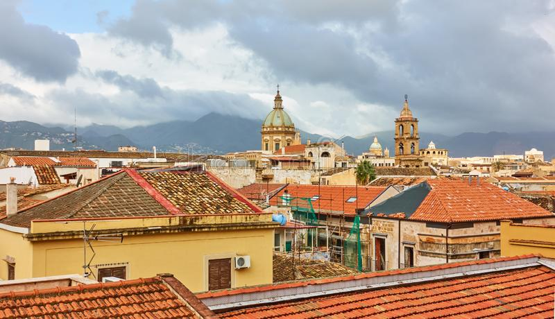 Panorama di Palermo fotografie stock