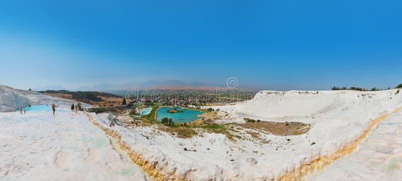 Panorama di Pamukkale Turchia immagini stock libere da diritti