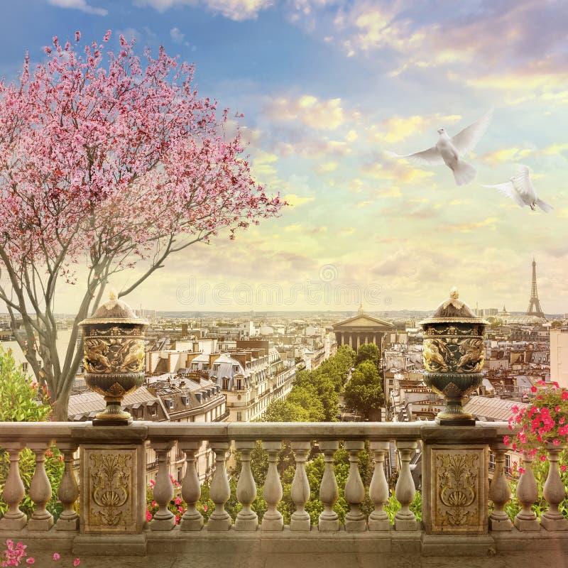 Panorama di Parigi immagine stock