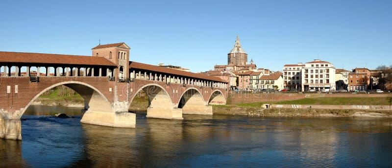 Panorama di Pavia fotografie stock libere da diritti