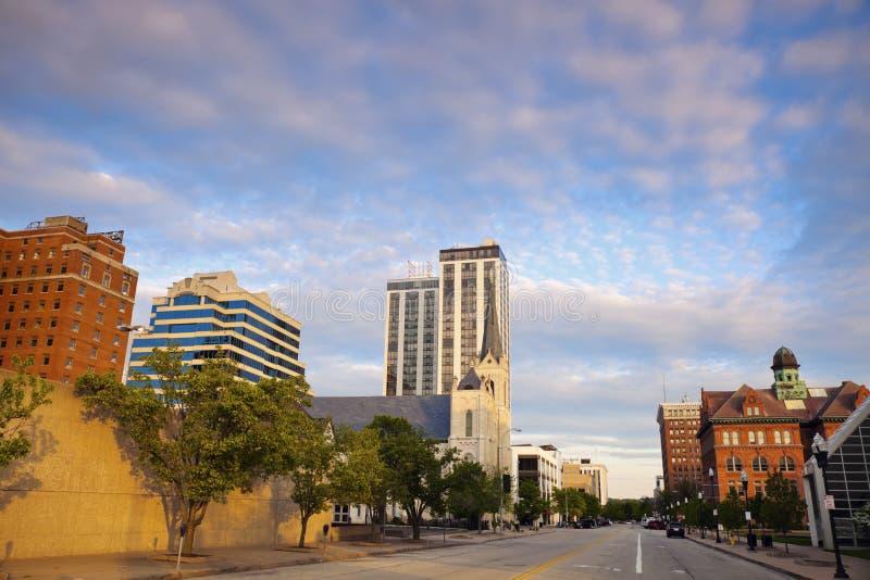 Panorama di Peoria al tramonto fotografie stock libere da diritti
