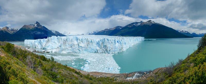Panorama di Perito Moreno Glacier, lago Argentino fotografia stock