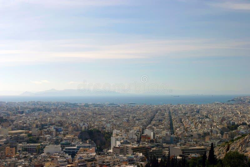 Panorama di Pireo fotografie stock libere da diritti