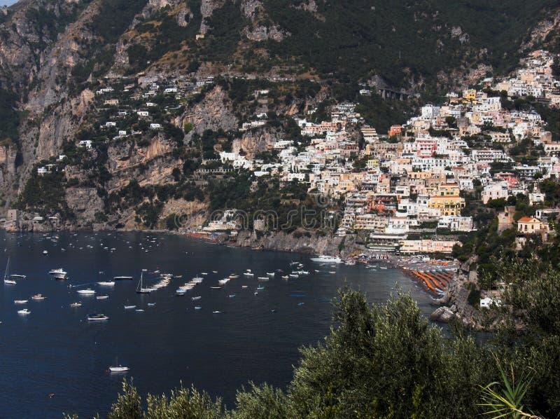 Download Panorama di Positano immagine stock. Immagine di mare - 3145495