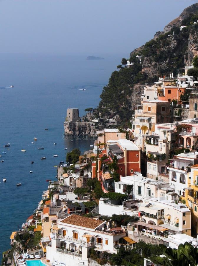 Download Panorama di Positano fotografia stock. Immagine di villaggio - 3145606