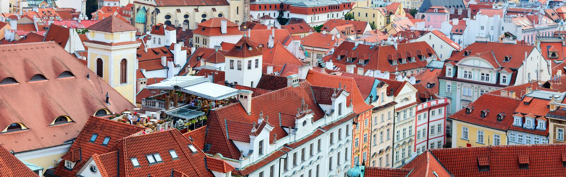 Panorama di Praga fotografia stock libera da diritti