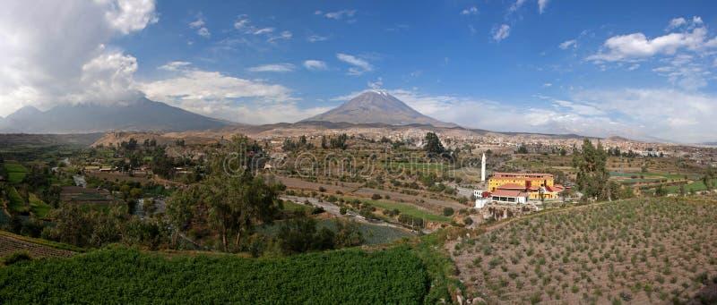 Panorama di punto di vista di EL Misti immagini stock libere da diritti