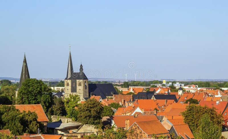 Panorama di Quedlinburg, Germania fotografie stock