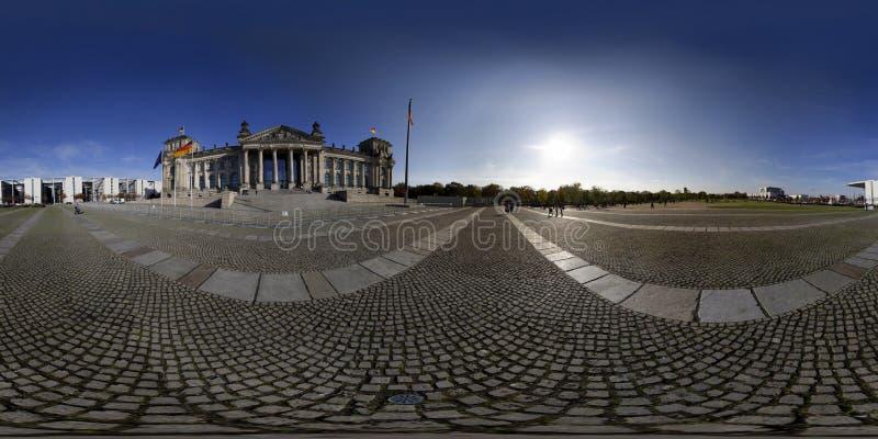 Panorama di Reichstag immagine stock libera da diritti
