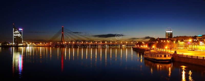 Panorama di Riga immagini stock libere da diritti
