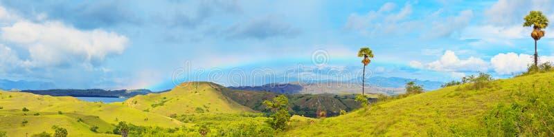 Panorama di Rinca fotografia stock libera da diritti