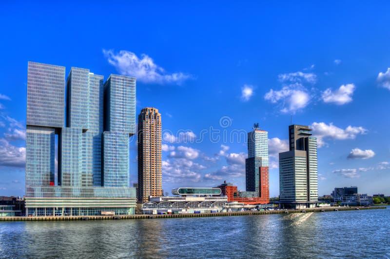Panorama di Rotterdam fotografia stock