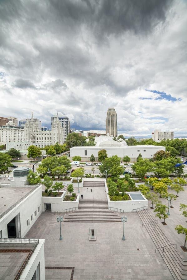 Panorama di Salt Lake City fotografia stock libera da diritti