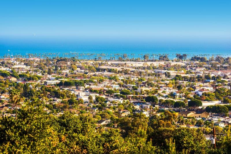 Panorama di Santa Barbara fotografia stock